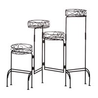Wholesale Black Tier Metal Plant Stand Shelf Foldable Screen