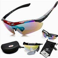 al por mayor lunetas deporte-Wholesale-2016 1set 5 lentes Hombre Marca Deportes Gafas de gafas de sol al aire libre Conjunto de los vidrios UV400 Gafas de sol Gafas de sol Gafas de sol NEGRAS