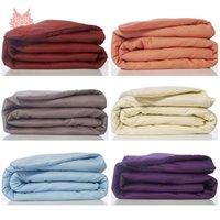 Wholesale Modern style multi color solid pure cotton duvet cover comforter cover housse de couette dekbedovertrek funda nordica SP2583