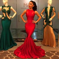 Wholesale 2016 sexy sleeveless bodycon womens long maxi mermaid black gown red runway evening prom cocktail party elegant plus size dress formal cheap