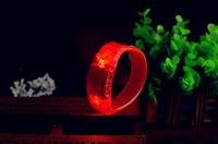 Wholesale LED Voice control Bracelet Glo sticks Electronic LED Flashing Bracelet Glow Bracelets LED Wrist Band Christmas LED Bracelet ZD055C