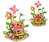 Wholesale 3D Wooden Puzzle Toy Greenhouse Pieces Great Wooden Toys for Children
