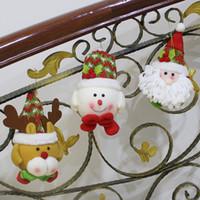 Wholesale Christmas Door Decor Wholesale - FYF151 Santa Claus Snowman Little Doll Tree Door Christmas Decoration For Home Ornament Decor Hanging Pendant Christmas Gift