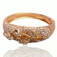 austrian crystal jewelry offers - Special Offer Fashion Sparkling Austrian Crystal Wrist Bangles For Women Wedding Jewelry Charm Bracelet Bangles