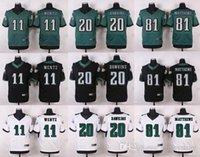 Wholesale Men Carson Wentz Brian Dawkins Jordan Matthews green Football jerseys Embroidery Logo NEW jerseys Mix Orde
