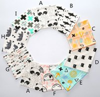 baby rings infant - Fashion INS Cotton Scarves Adorable Baby Kids Accessorices Infants Cartoon Neckerchief Boys Girls Fox Cat Tiger Shark Bear Ring Wraps