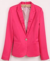 Wholesale Hot outerwear casual brand women blazer suits foldable plus size cotton amp spandex coats one bottom blazers and jackets