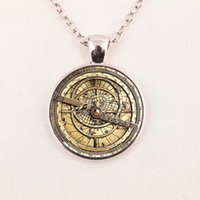 astrolabe necklace - Steampunk Drama Gravity Falls Mysteries BILL CIPHER WHEEL glass doctor who Glass astrolabe Pendant Necklace
