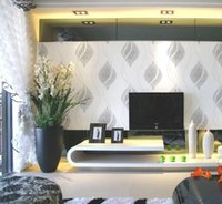 Wholesale Non woven office wallpaper italian wallpaper modern wallpaper roll d background wall wallpaper grey for living room WP506