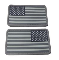 Wholesale D American flag PVC rubber patch with velcro backing Customized Eco friendly waterproof