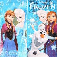 Wholesale Frozen Cartoon Cotton Elsa Anna OLAF Soft towels children FROZEN Towel Kids Shower Towels beach towels robes