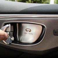 Wholesale carbon Interior Accessories for infiniti q50 qx60 q70 door inner handle bar bowl wrist sticker decorative frame cover sticker