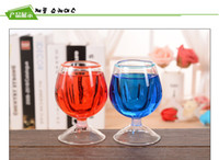 Wholesale goblet Cup shaped Acrylic Plexiglass Pen Pencil Lead Pencil Stationery Supplies Display Holder Stand Container Brush Pot