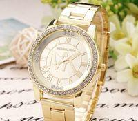 Wholesale Luxury Brand Famous Designer Women Watches New Silver Metal Ladies Watches Rhinestone Diamond Fashion Dress Wrist Watches