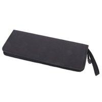 artist pencil holder - IMC hot Foldable Oxford Fabric Zipper Artist Brush Bag Case Holder Black