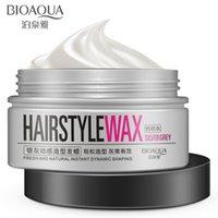 Wholesale g BIOAQUA Brand Men Silver Grey Pomade Hair Mud Wax Long lasting random hair styling Hair Clay Easy To Stereotype Hair Gel