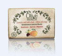 apricot oil - 100g Apricot traditional olive oil handmade soap Natural Pure Dermatologically tested No animal ingredients Day used Sensitive skin care