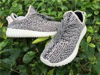 Cheap Yzy boost 350 Turtle dove grey Moonrock Kanye West oxford tan Sport Shoes Pirate Black & Grey size 7