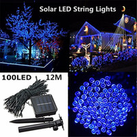 Wholesale Christmas Outdoor Lighting Sale - HOT SALE LEDS Outdoor Led Christmas Lights Waterproof 12M 100LEDS Solar String Light Fairy Lights For Outdoor Garden Party Christmas Tree