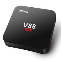 Cheap 1GB Android 5.1 V88 4K Boxes Best 8GB Black Rockchip RK3229 Android OTT TV Box