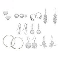 Wholesale mix style Fashion Earring Jewelry Women s Silver Earrings Jewelry Silver Pretty Tears Earrings Jewelry