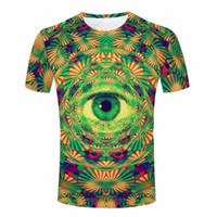 Cheap Wholesale-Psychedelic Funny Cat T Shirts Men cute don't trust anyone 3d T-shirt Rainbow Colorful galaxy space Top Tees Skull Punk clothing