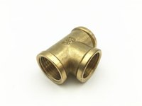 Wholesale G1 Brass Female Thread Way Quick Connector Coupling tee coupling Female Tee coupling Air Joint Bronze Tone