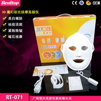 Wholesale Wrinkle Removal Beauty Machine PDT Anti Aging Mask Therapy Colors Photon Device Electric LED Facial Mask Skin Rejuvenation