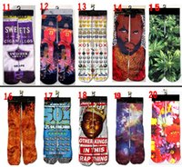 Wholesale 3d socks kids women men hip hop socks d socks cotton skateboard socks printed gun emoji tiger skull socks Unisex socks Price