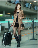 Wholesale Spring Autumn Ladies Korean Style Fashion Printing Slim Long Sleeve Windbreaker F036