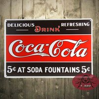 Wholesale New Coke Logo Vintage Advertisement Coke Metal Tin Sign Home Decor Bar decor