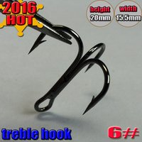Wholesale 1000pc Fishing Hook High Carbon Steel Treble Hooks Fishing Tackle Black nickel Color Fishing Equipment