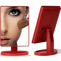 Wholesale 2016 NEW UV Coating Touch Screen Battery Operated Cordless LED Lighted Vanity Makeup Mirrors with Portable
