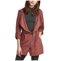 Wholesale Autumn Coats for Women American Style New Fashion Brand Long Sleeve Hoodies Coats High Quality Women s Trench