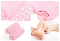 Розовые ноги Цены-Розовые увлажняют носка розовый гель Носки SPA Перчатки Носки потрескавшейся кожи гель носки кожи Инструменты Увлажняющий Лечение Уход за ногами