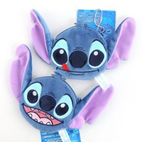 animations oval - 2 styles Animation lilo stitch plush stereo change purse bring small pendant beads backpack