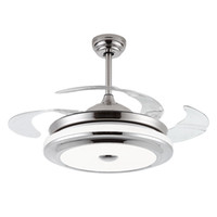 Wholesale 42 inch Bedroom Ceiling Fan Lighting Remove Control Invisible Fan Home Led Lamps Lighting Ceiling Fans