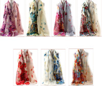 abstract scarf - 2016 New abstract rose Printed voile Scarf Women fashion Shawls Wraps and retail Color optional cm