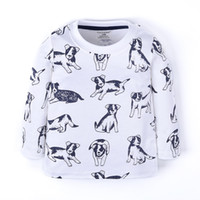 Wholesale Funnygame17 NEW ARRIVAL boys Kids Cotton Long Sleeve o neck cartoon full dogs print T shirt boyl spring autumn t shirt