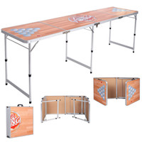 Wholesale Foldable Aluminum Folding Beer Pong Table Portable Outdoor Indoor Game Party
