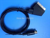 Wholesale 100pcs m RGB Scart Cable for Sega Mega Drive MD2 Console DHL Fedex