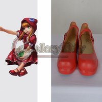 annie shoes - LOL Cosplay Shoes Adult Annie Red Shoes Lolita Cosplay Accessories Custom Made