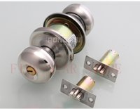 bedroom door knob lock - 2set High Quality Stainless Steel Cylindrical Door Lock Bedroom Washroom Bathroom Knob Lock gold silver colors knob lockset