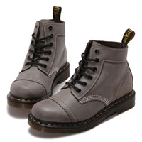 best styling wax - Trendy Lace Up Boots British Style Light Grey Oil Wax Best Leather Boots Short Martin Boots