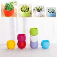 Wholesale 1000pcs Gardening Flower Pots Small Mini Colorful Plastic Nursery Flower Planter Pots Home Office Desktop Garden Deco Gardening Tool jy333