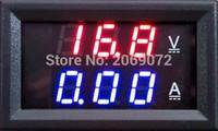 Оптово-400V 100A Напряжение Вольтметр Амперметр 2in1 DC Volt Amp Двойной дисплей метр панели Красный Синий цифровой светодиодный