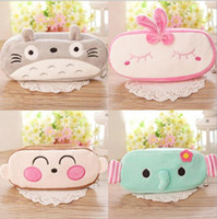Wholesale South Korea animal totoro plush pencil case student pencil box Cartoon students supplies stationery gifts