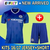 chelsea - 2016 Chelsea Soccer jersey kits Home Blue HAZARD Chelsea PEDRO DIEGO COSTA PEDRO WILLIAN TERRY FABREGAS footbal shirt set with shorts