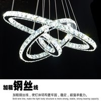Wholesale Round crystal chandelier LED lamps living room chandelier dining chandelier Art drill Danjie Zi crystal lamps aisle lights decorative light