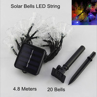 bell housing - 4 m Led Bells LED Solar String Fairy Light Puzzle Lights To Decorative Court Yard Garden House During Festival Christmas Holiday Party